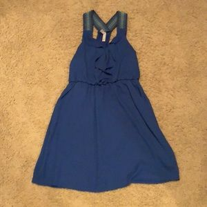 A-line halter dress with pockets
